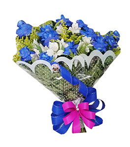 1047 Bouquet Fantastic Blue