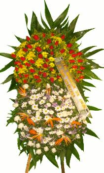 1129 Coroa Flores Homenagem Grande