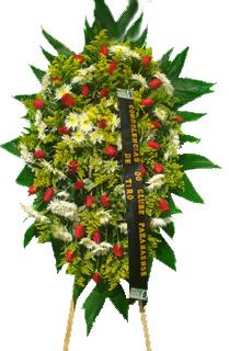 1141 Coroa de Flores Delicada