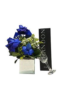 1179 Kit Chandon + Taça + Arranjo Blue