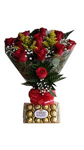 1183 Rosas com Chocolates