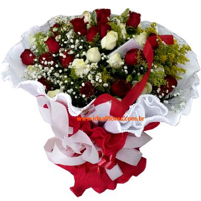 1338 Buquê Com Paixão! 40 Rosas (Escolha as Cores!!!)