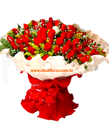 1348 Super TOP Buquê com 60 Rosas