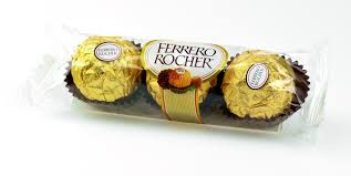 1691 Chocolate Ferrero Rocher com 3 Unidades.