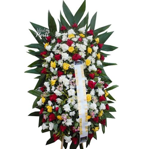 2069 Coroa Fúnebre Sofisticada com 2 Buquês