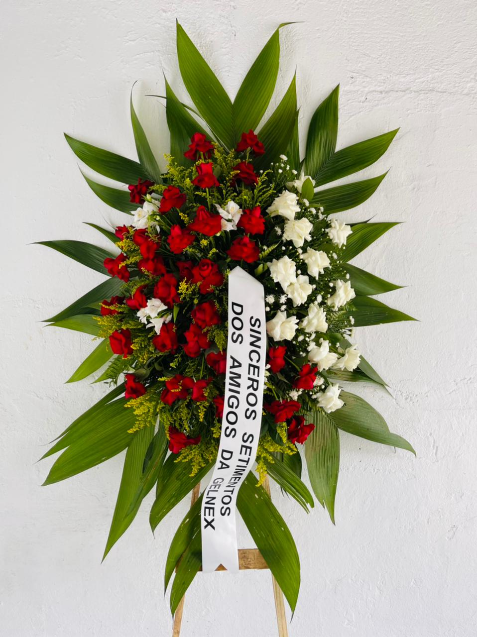 4180 Coroa de Flores Descanse em Paz