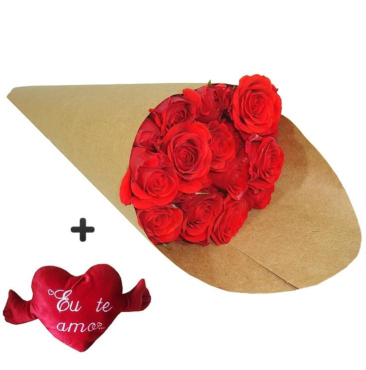 4232 Rosas + Pelúcia de Coração