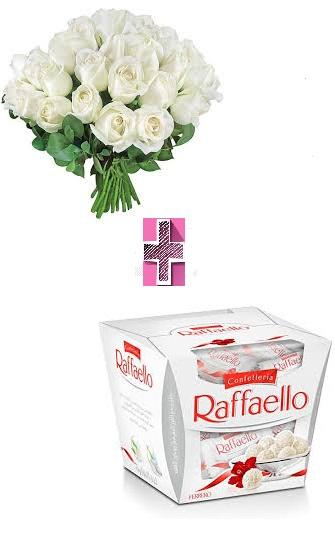 4234 Buquê Rosa Alba + Raffaello