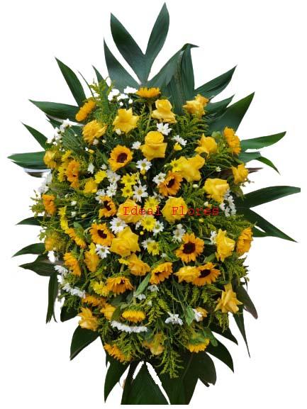 4568 Coroa de Flores Amarelas