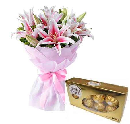 4822 Lírios Rosas & Ferrero Rocher