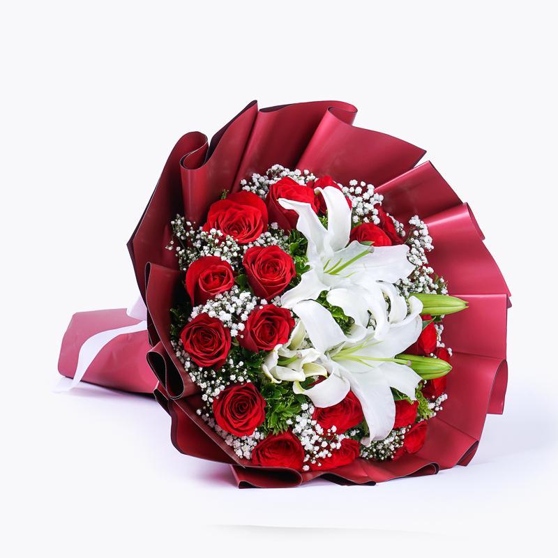 4876 Buquê Meu Amor com 20 Rosas