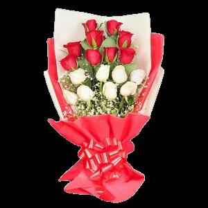 4879 Ramalhete Especial com 17 Rosas Duo