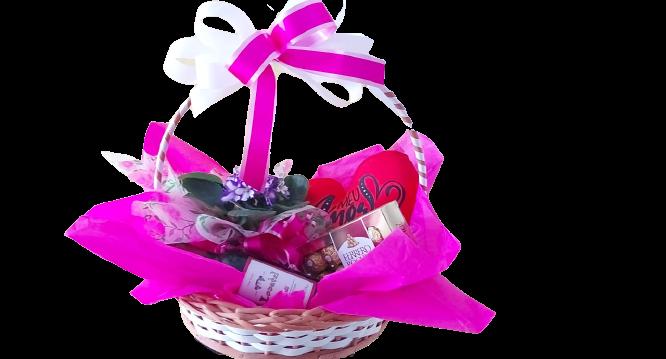 4891 CESTA de Chocolates, Flores e Vinho