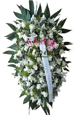 5213 Coroa de Flores Brancas Grande