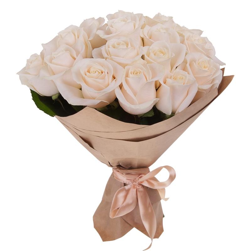5310 Buquê Inocência com 18 Rosas Brancas